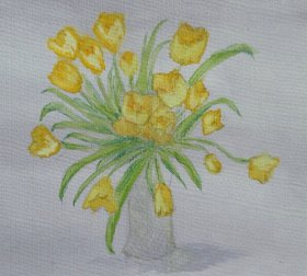 "Jill Marshall: ""Yellow Tulips"""