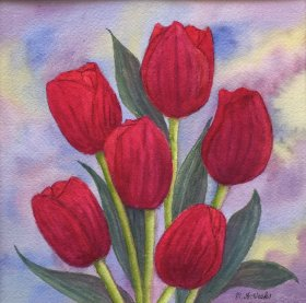 "Maureen Weeks:  ""Tulips in Bloom"""