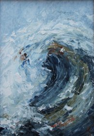 "Margaret Jones: 'Wave II""  7in x 5in"