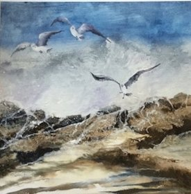 "Gill Schofield: ""Checking the Rock Pool"""