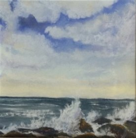 "Gill Schofield: ""Early Morning Waves"""