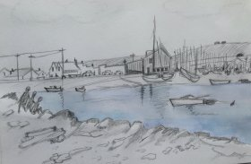 Jill Marshall: Harbour Scene