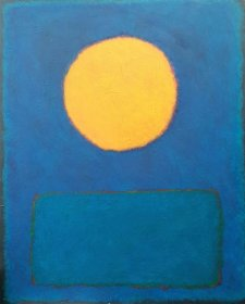 "Margaret Jones: ""Sun over Sea"" after Rothko 80cm x 100cm"