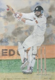 Jean L Grew: Mike Atherton (Signed painting)